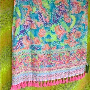 Lilly Pulitzer resort scarf blue Ibiza